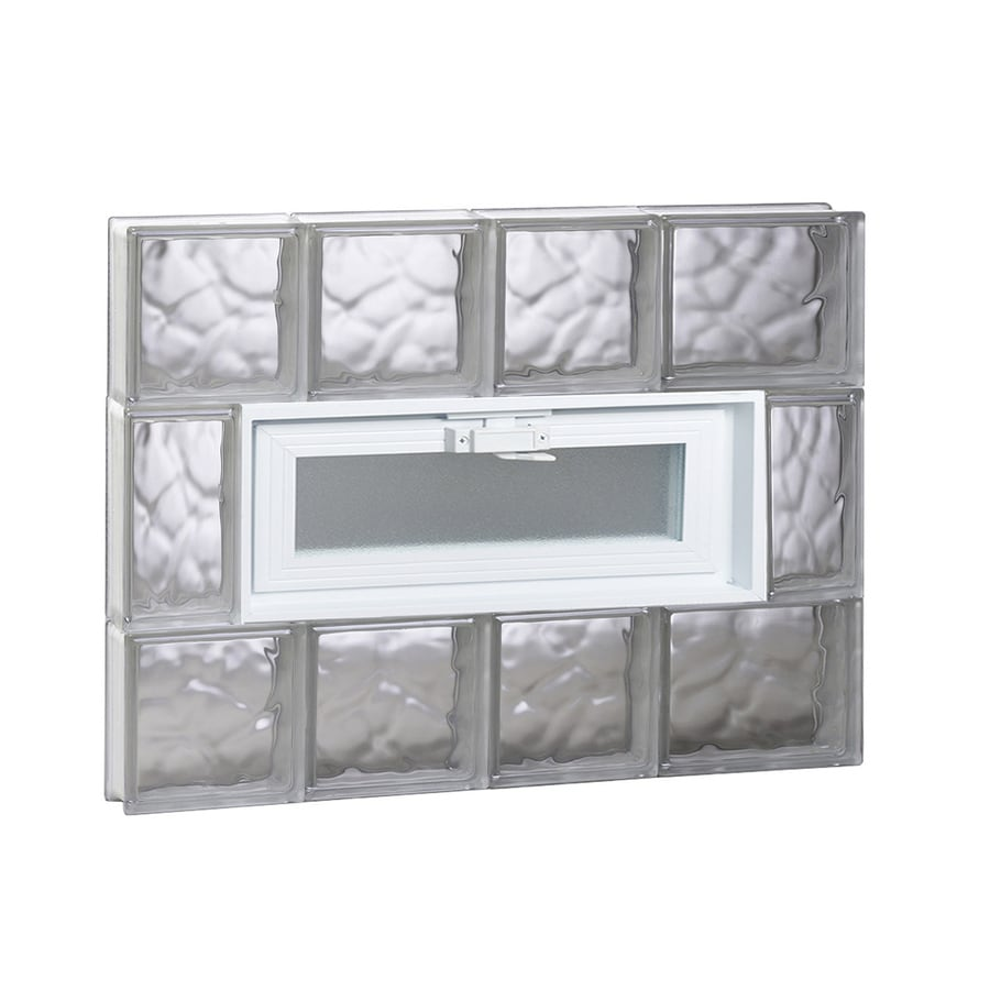 REDI2SET Wavy Pattern Frameless Replacement Glass Block Window (Rough Opening: 26-in x 20-in; Actual: 25-in x 19.25-in)