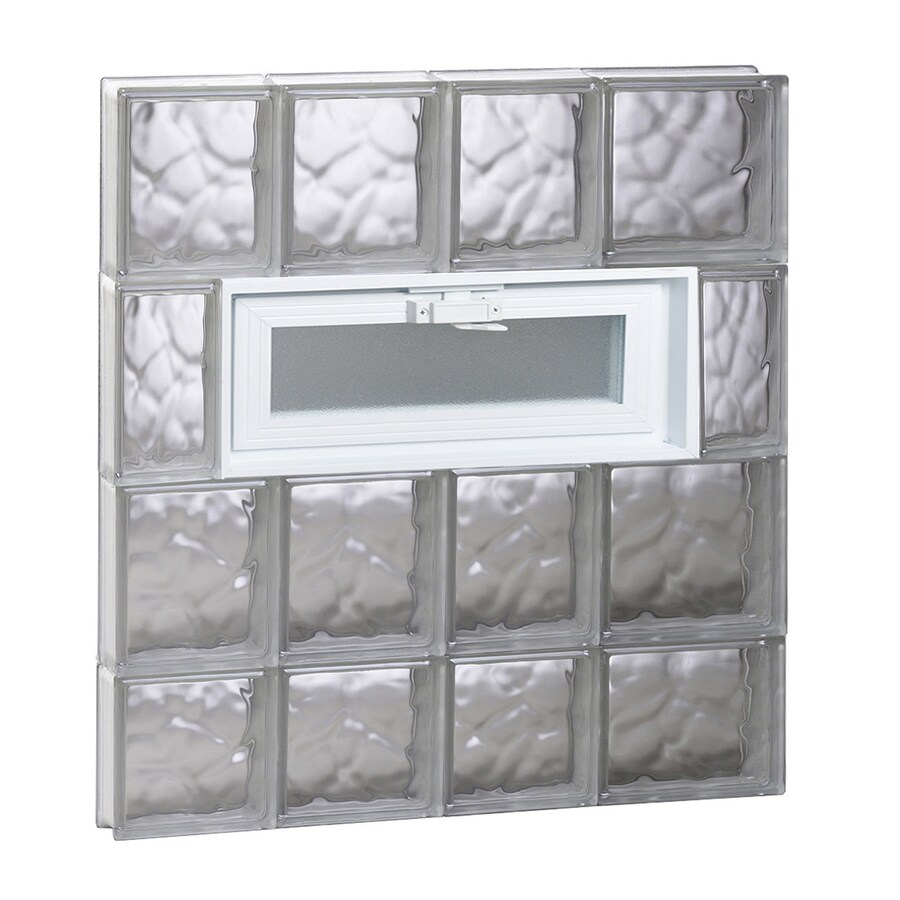 REDI2SET Wavy Pattern Frameless Replacement Glass Block Window (Rough Opening: 26-in x 30-in; Actual: 25-in x 29-in)