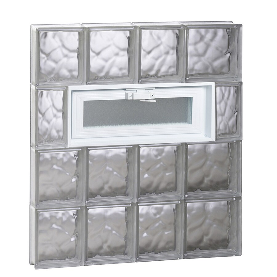 REDI2SET Wavy Pattern Frameless Replacement Glass Block Window (Rough Opening: 26-in x 32-in; Actual: 25-in x 31-in)