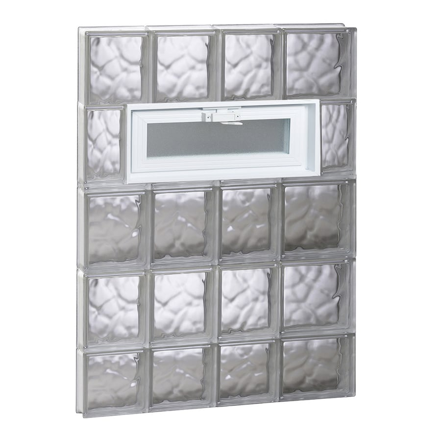 REDI2SET Wavy Pattern Frameless Replacement Glass Block Window (Rough Opening: 26-in x 38-in; Actual: 25-in x 36.75-in)