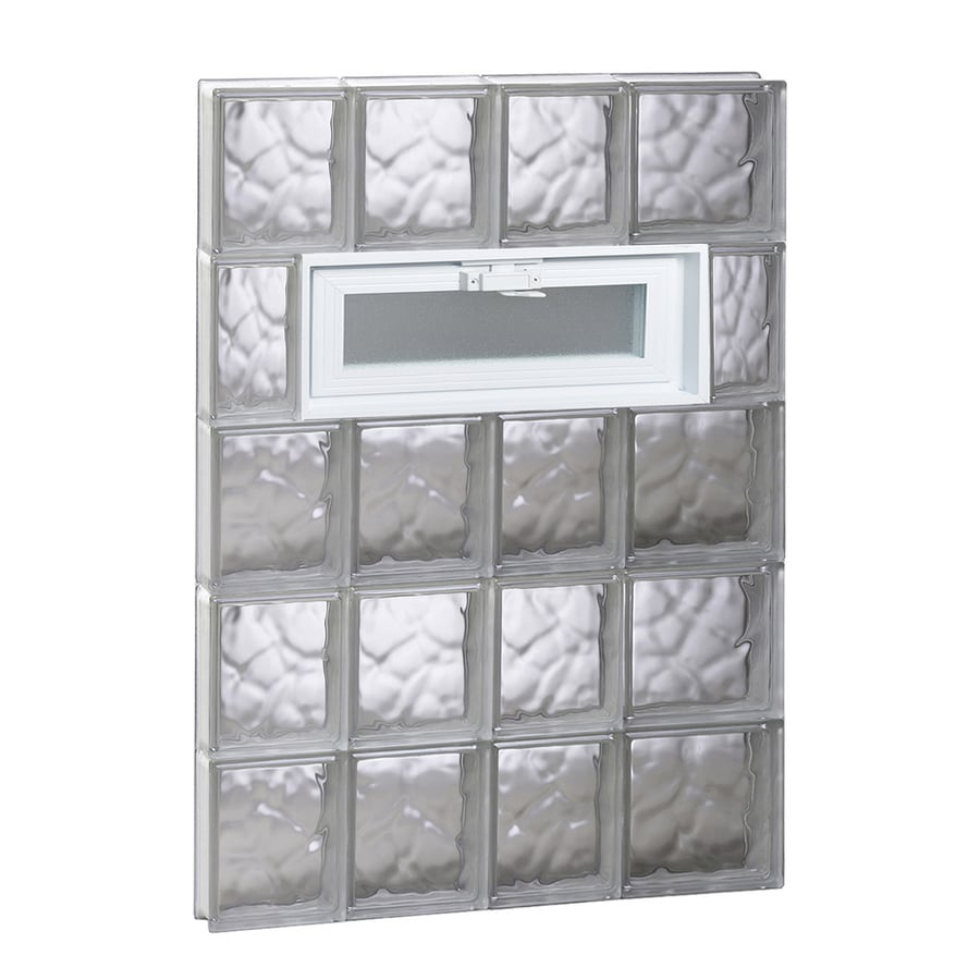 REDI2SET Wavy Pattern Frameless Replacement Glass Block Window (Rough Opening: 26-in x 40-in; Actual: 25-in x 38.75-in)