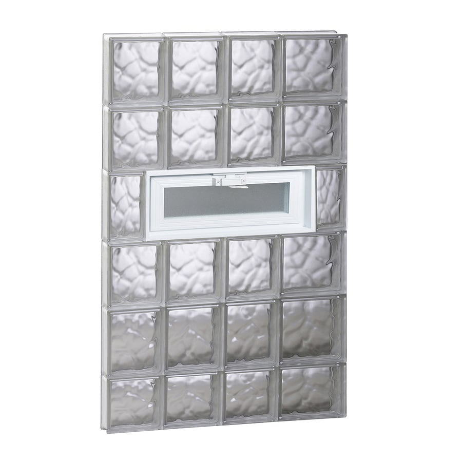 REDI2SET Wavy Pattern Frameless Replacement Glass Block Window (Rough Opening: 26-in x 46-in; Actual: 25-in x 44.5-in)