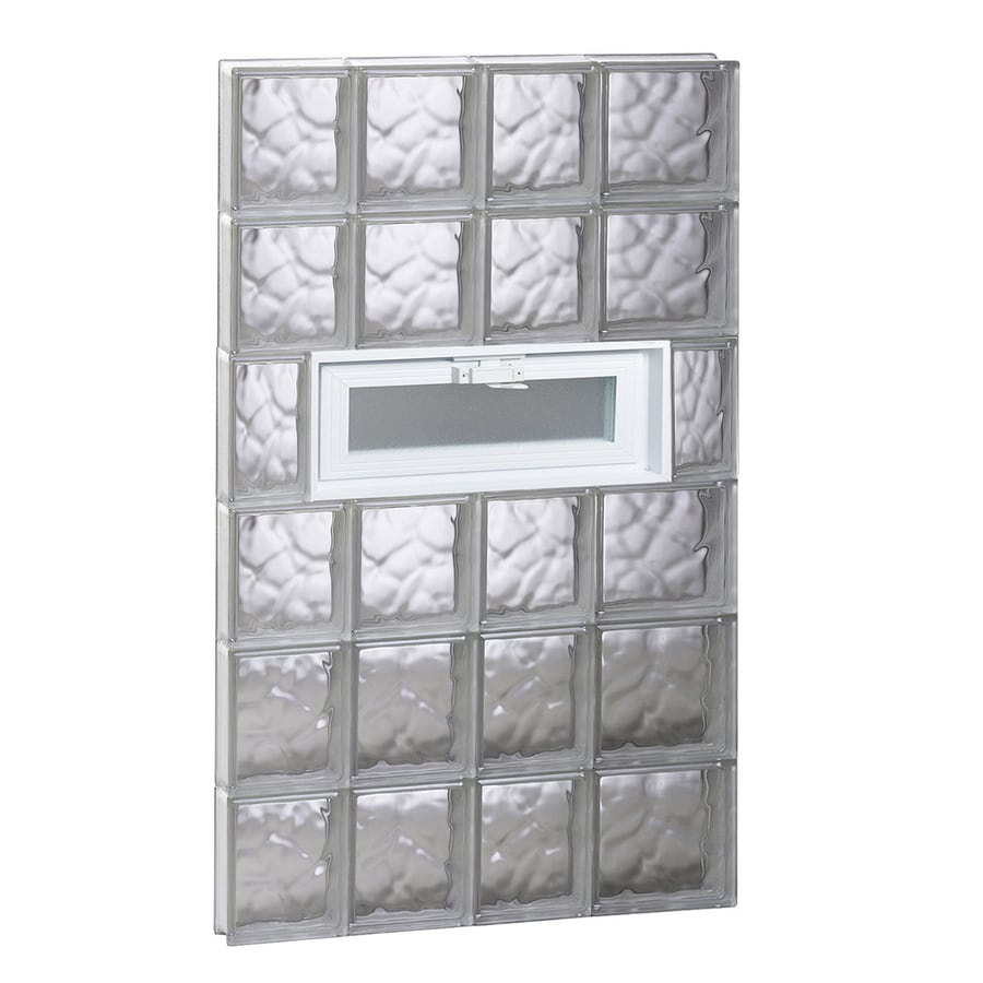 REDI2SET Wavy Pattern Frameless Replacement Glass Block Window (Rough Opening: 26-in x 48-in; Actual: 25-in x 46.5-in)