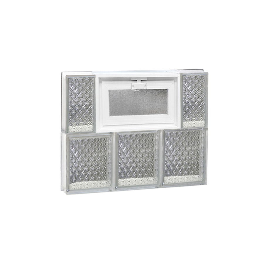 REDI2SET Diamond Pattern Frameless Replacement Glass Block Window (Rough Opening: 18-in x 16-in; Actual: 17.25-in x 15.5-in)