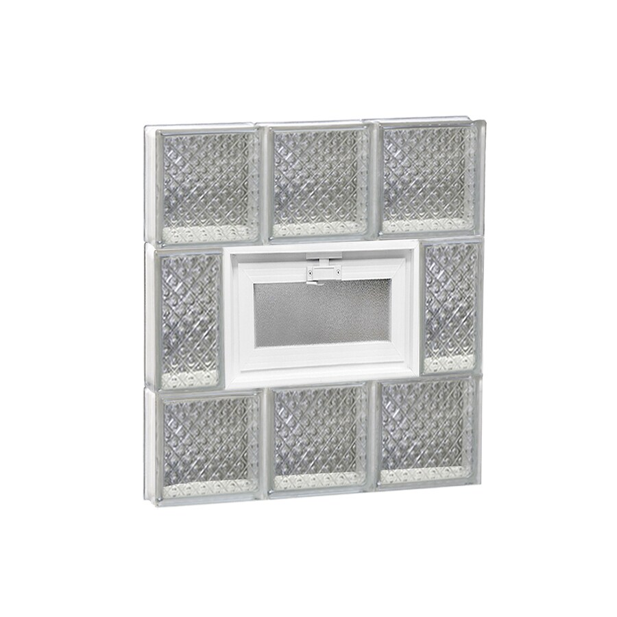 REDI2SET Diamond Glass Pattern Frameless Replacement Glass Block Window (Rough Opening: 18-in x 20-in; Actual: 17.25-in x 19.25-in)