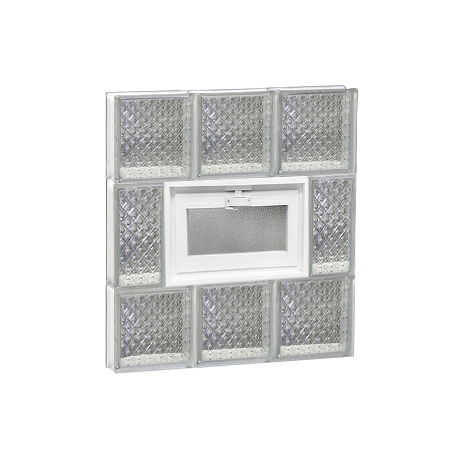 REDI2SET Diamond Pattern Frameless Replacement Glass Block Window (Rough Opening: 18-in x 20-in; Actual: 17.25-in x 19.25-in)