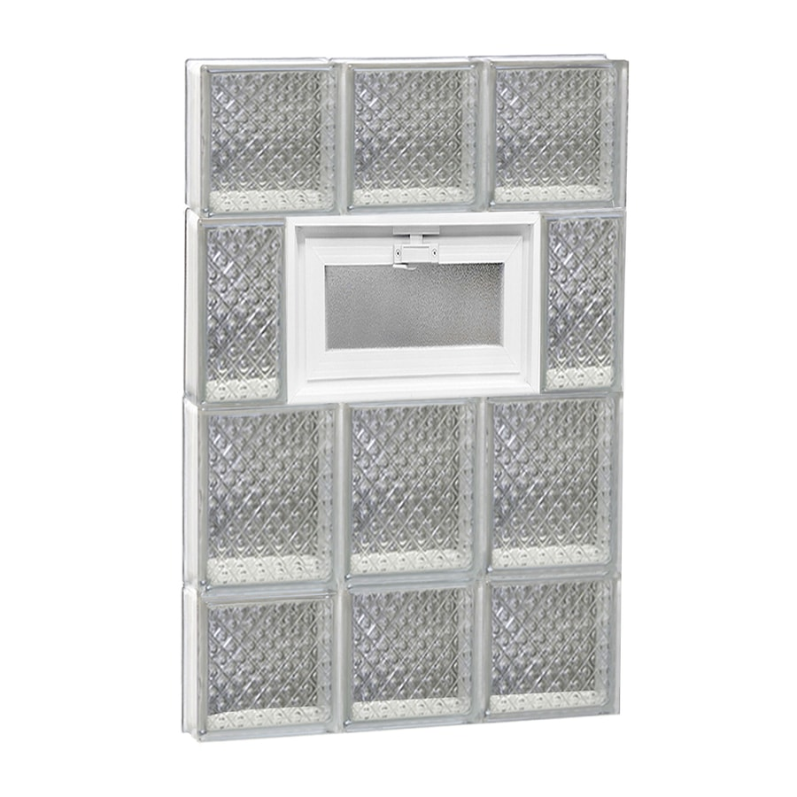 REDI2SET Diamond Pattern Frameless Replacement Glass Block Window (Rough Opening: 18-in x 28-in; Actual: 17.25-in x 27-in)