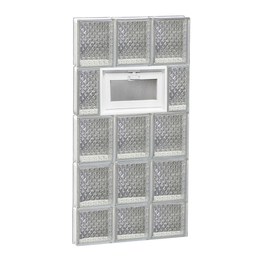 REDI2SET Diamond Pattern Frameless Replacement Glass Block Window (Rough Opening: 18-in x 38-in; Actual: 17.25-in x 36.75-in)