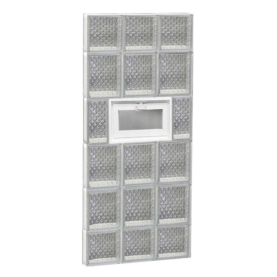 REDI2SET Diamond Pattern Frameless Replacement Glass Block Window (Rough Opening: 18-in x 44-in; Actual: 17.25-in x 42.5-in)