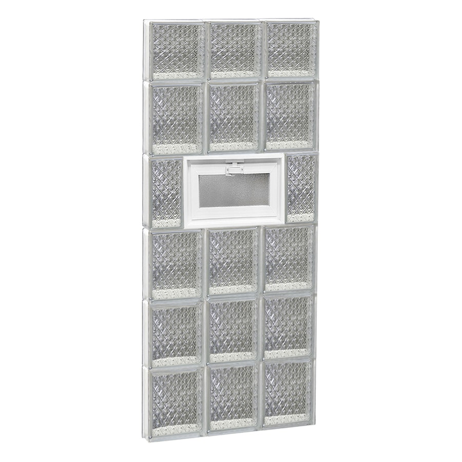 REDI2SET Diamond Pattern Frameless Replacement Glass Block Window (Rough Opening: 18-in x 46-in; Actual: 17.25-in x 44.5-in)