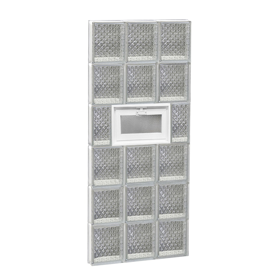 REDI2SET Diamond Pattern Frameless Replacement Glass Block Window (Rough Opening: 18-in x 48-in; Actual: 17.25-in x 46.5-in)