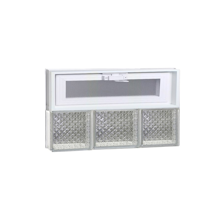REDI2SET Diamond Pattern Frameless Replacement Glass Block Window (Rough Opening: 20-in x 12-in; Actual: 19.25-in x 11.5-in)