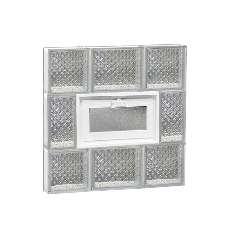 REDI2SET Diamond Pattern Frameless Replacement Glass Block Window (Rough Opening: 20-in x 20-in; Actual: 19.25-in x 19.25-in)