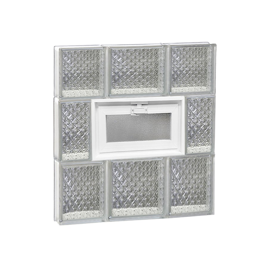 REDI2SET Diamond Pattern Frameless Replacement Glass Block Window (Rough Opening: 20-in x 22-in; Actual: 19.25-in x 21.25-in)