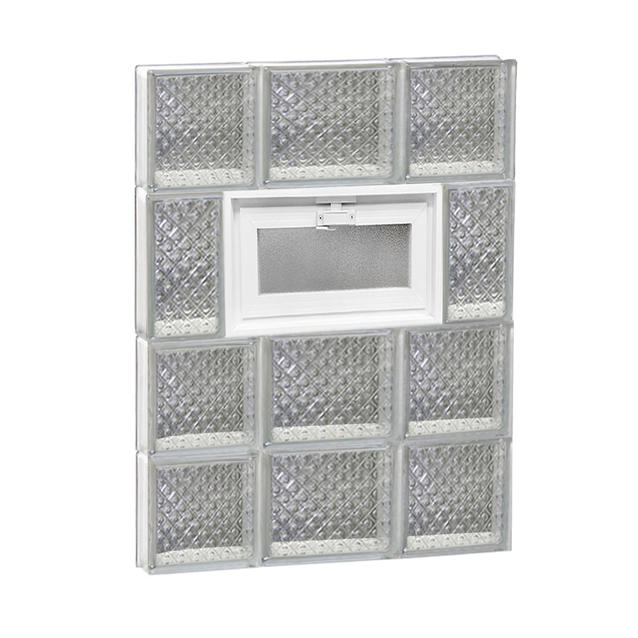 REDI2SET Diamond Pattern Frameless Replacement Glass Block Window (Rough Opening: 20-in x 26-in; Actual: 19.25-in x 25-in)