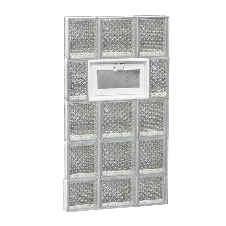 REDI2SET Diamond Pattern Frameless Replacement Glass Block Window (Rough Opening: 20-in x 38-in; Actual: 19.25-in x 36.75-in)