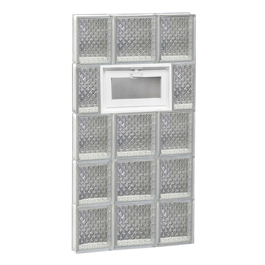 REDI2SET Diamond Pattern Frameless Replacement Glass Block Window (Rough Opening: 20-in x 40-in; Actual: 19.25-in x 38.75-in)