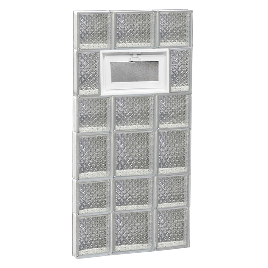REDI2SET Diamond Pattern Frameless Replacement Glass Block Window (Rough Opening: 20-in x 42-in; Actual: 19.25-in x 40.5-in)