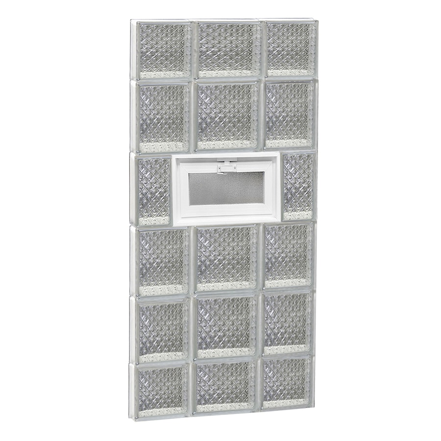 REDI2SET Diamond Pattern Frameless Replacement Glass Block Window (Rough Opening: 20-in x 44-in; Actual: 19.25-in x 42.5-in)