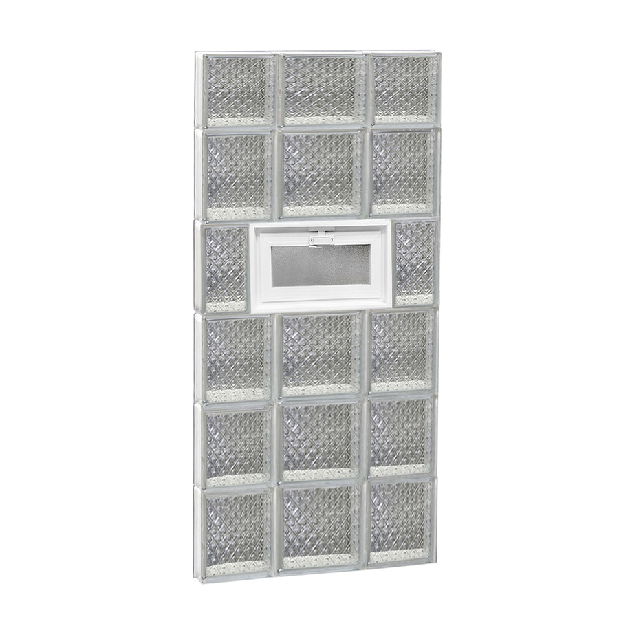 REDI2SET Diamond Pattern Frameless Replacement Glass Block Window (Rough Opening: 20-in x 46-in; Actual: 19.25-in x 44.5-in)