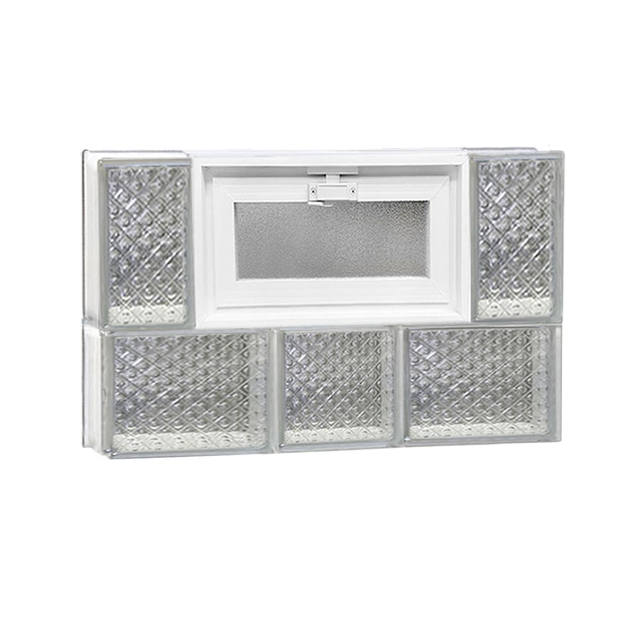 REDI2SET Diamond Pattern Frameless Replacement Glass Block Window (Rough Opening: 22-in x 14-in; Actual: 21.25-in x 13.5-in)