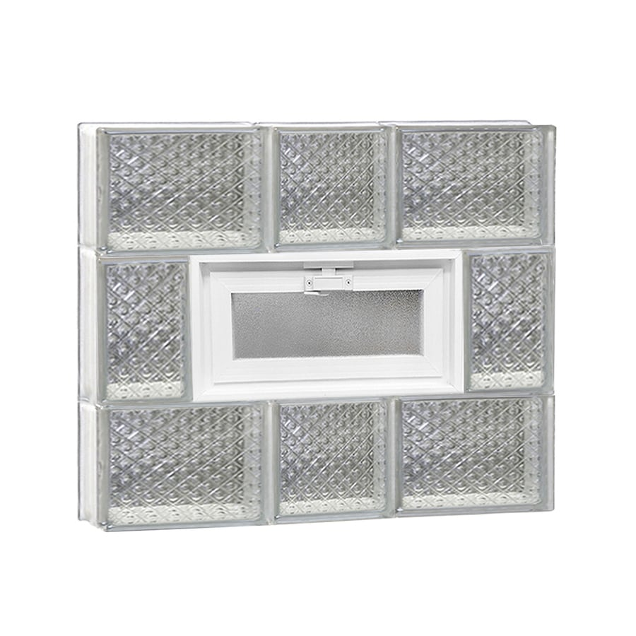 REDI2SET Diamond Pattern Frameless Replacement Glass Block Window (Rough Opening: 22-in x 20-in; Actual: 21.25-in x 19.25-in)