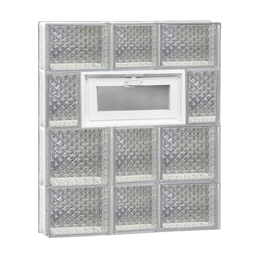 REDI2SET Diamond Pattern Frameless Replacement Glass Block Window (Rough Opening: 22-in x 28-in; Actual: 21.25-in x 27-in)
