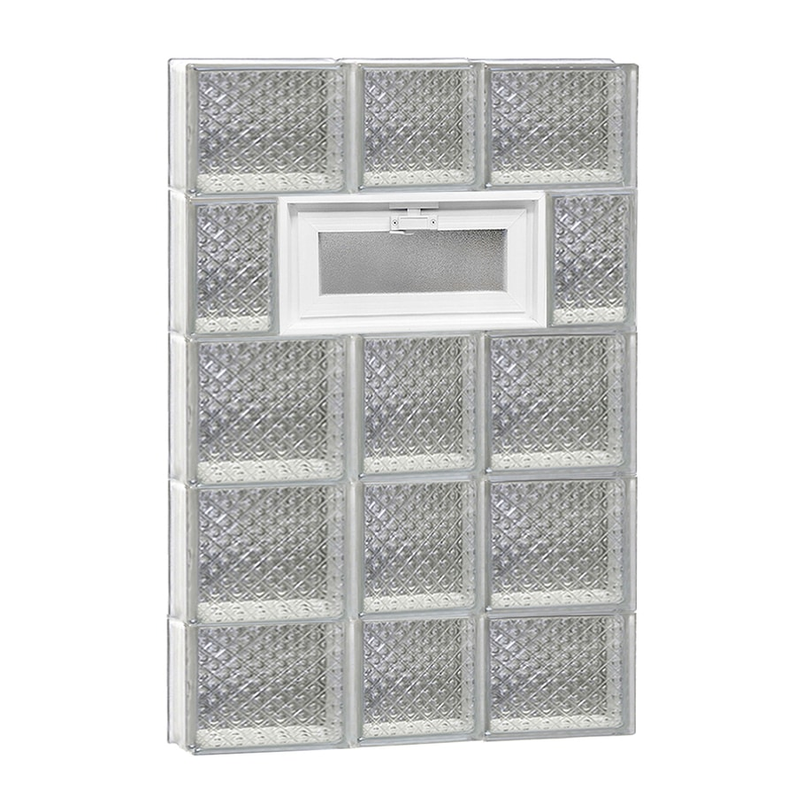 REDI2SET Diamond Pattern Frameless Replacement Glass Block Window (Rough Opening: 22-in x 36-in; Actual: 21.25-in x 34.75-in)