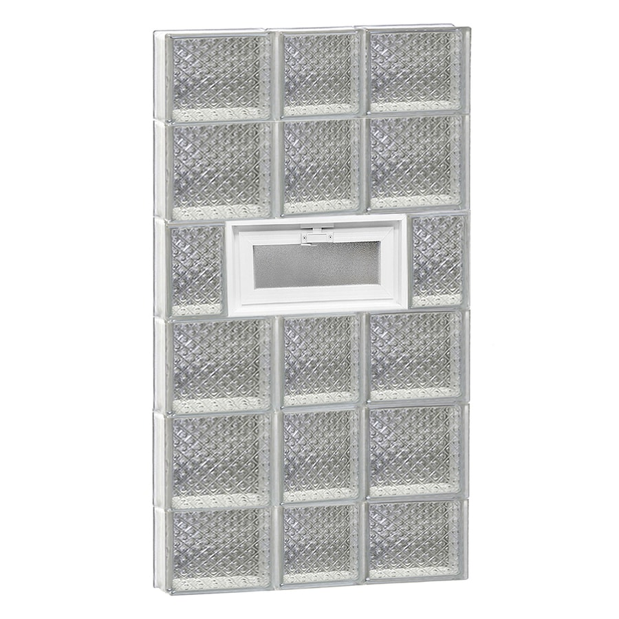 REDI2SET Diamond Pattern Frameless Replacement Glass Block Window (Rough Opening: 22-in x 44-in; Actual: 21.25-in x 42.5-in)