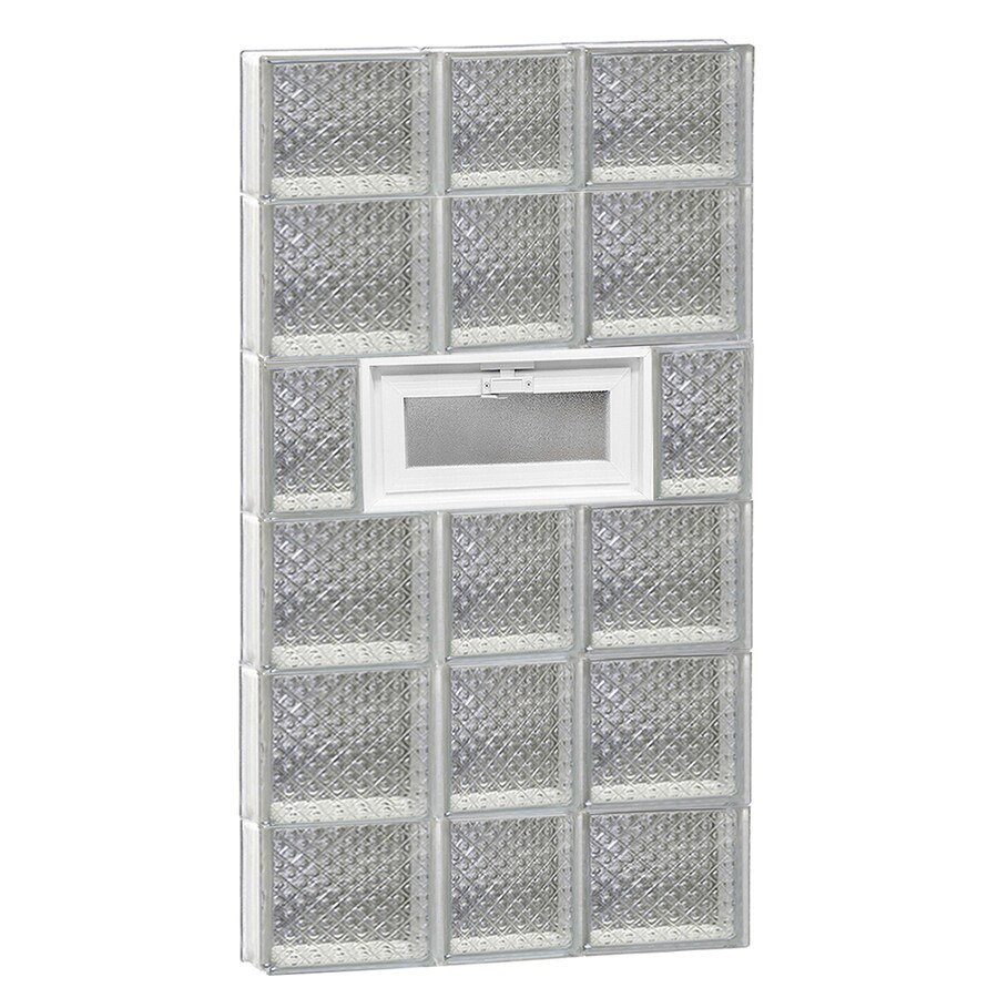 REDI2SET Diamond Pattern Frameless Replacement Glass Block Window (Rough Opening: 22-in x 46-in; Actual: 21.25-in x 44.5-in)