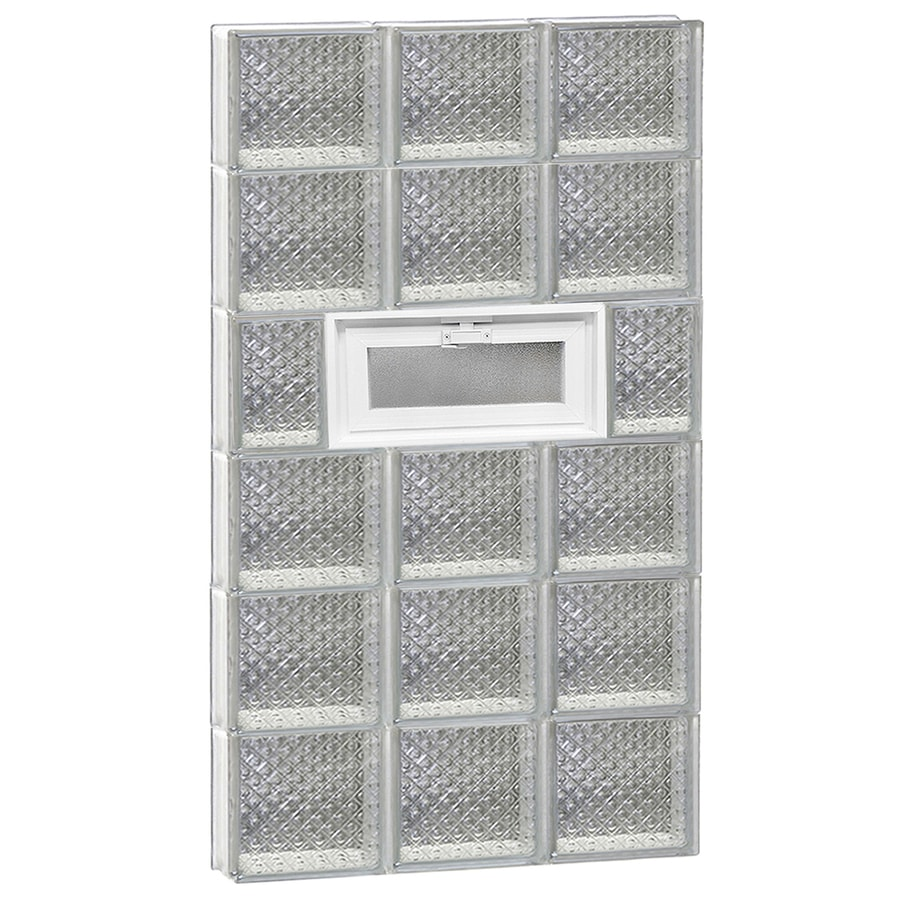 REDI2SET Diamond Pattern Frameless Replacement Glass Block Window (Rough Opening: 22-in x 48-in; Actual: 21.25-in x 46.5-in)