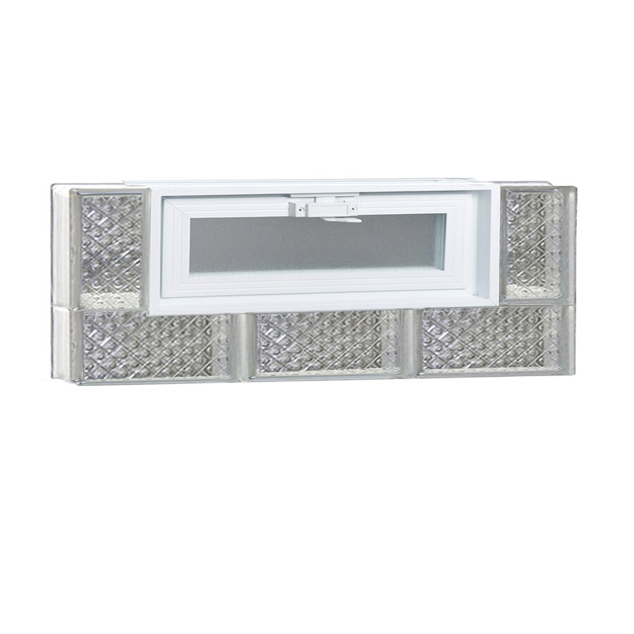 REDI2SET Diamond Pattern Frameless Replacement Glass Block Window (Rough Opening: 24-in x 12-in; Actual: 23.25-in x 11.5-in)