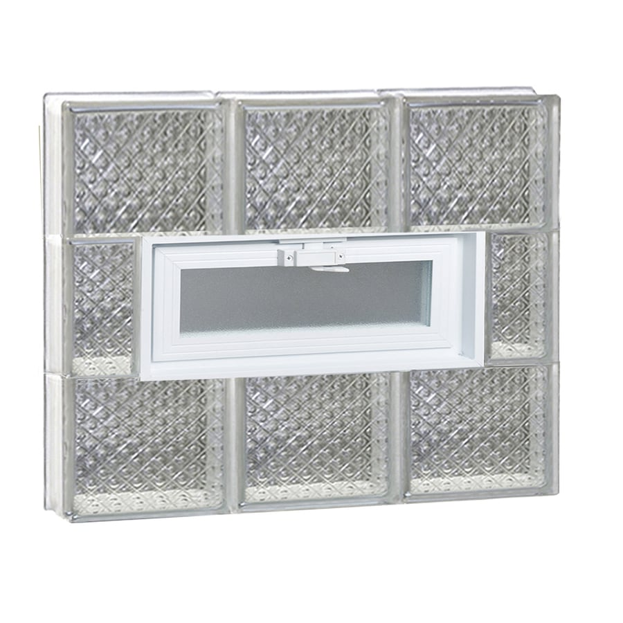 REDI2SET Diamond Pattern Frameless Replacement Glass Block Window (Rough Opening: 24-in x 24-in; Actual: 23.25-in x 23.25-in)