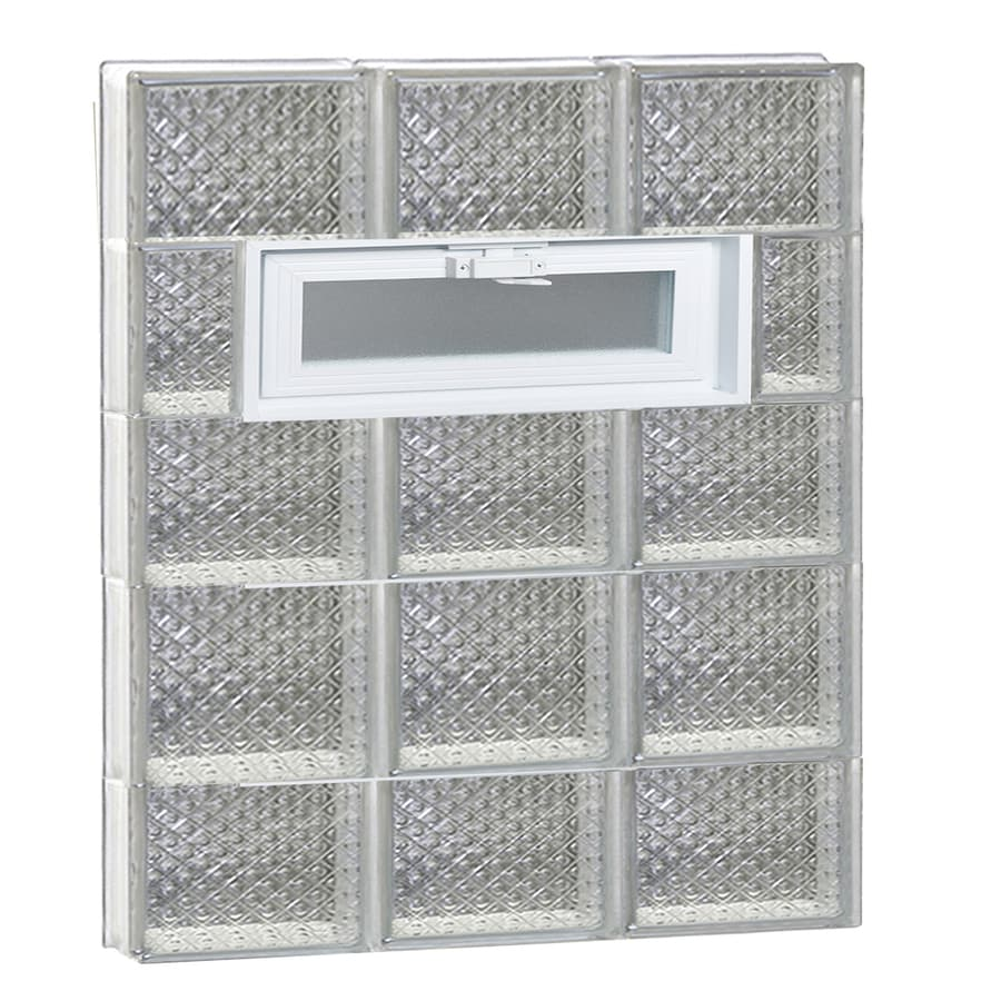 REDI2SET Diamond Pattern Frameless Replacement Glass Block Window (Rough Opening: 24-in x 34-in; Actual: 23.25-in x 32.75-in)