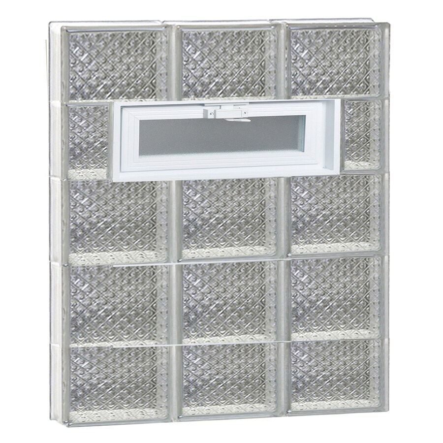 REDI2SET Diamond Pattern Frameless Replacement Glass Block Window (Rough Opening: 24-in x 36-in; Actual: 23.25-in x 34.75-in)