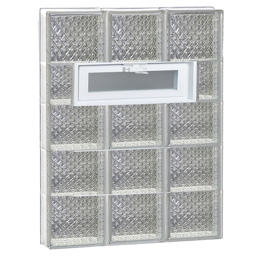 REDI2SET Diamond Pattern Frameless Replacement Glass Block Window (Rough Opening: 24-in x 40-in; Actual: 23.25-in x 38.75-in)