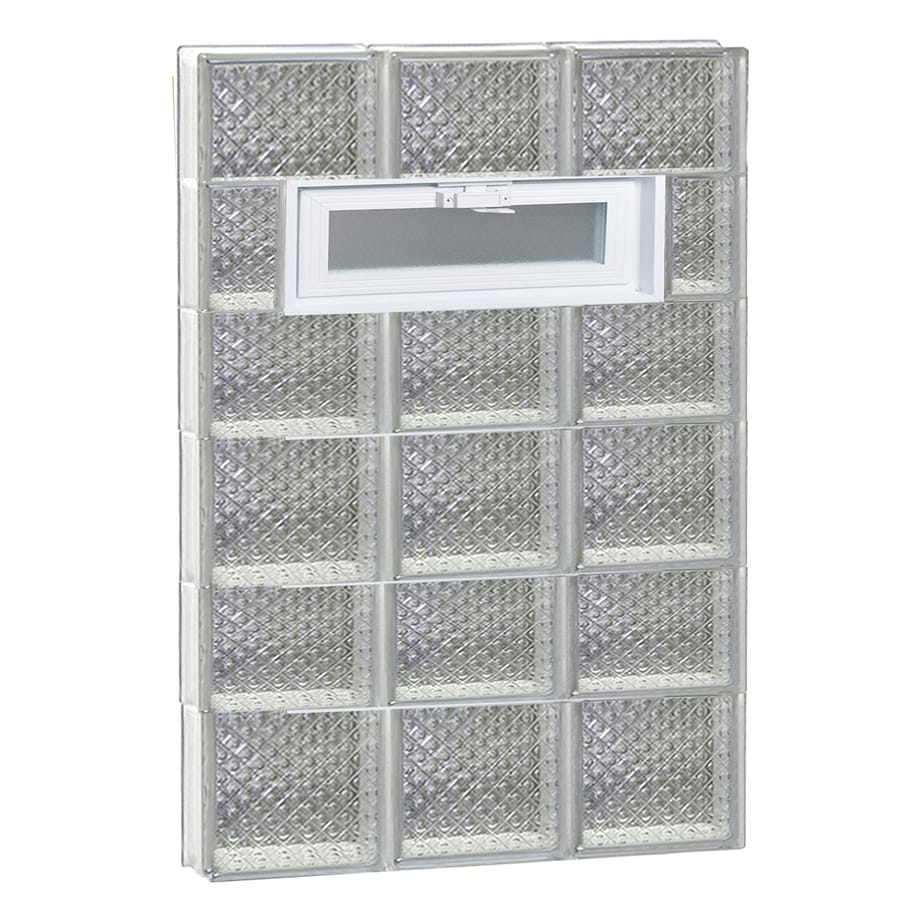REDI2SET Diamond Pattern Frameless Replacement Glass Block Window (Rough Opening: 24-in x 42-in; Actual: 23.25-in x 40.5-in)