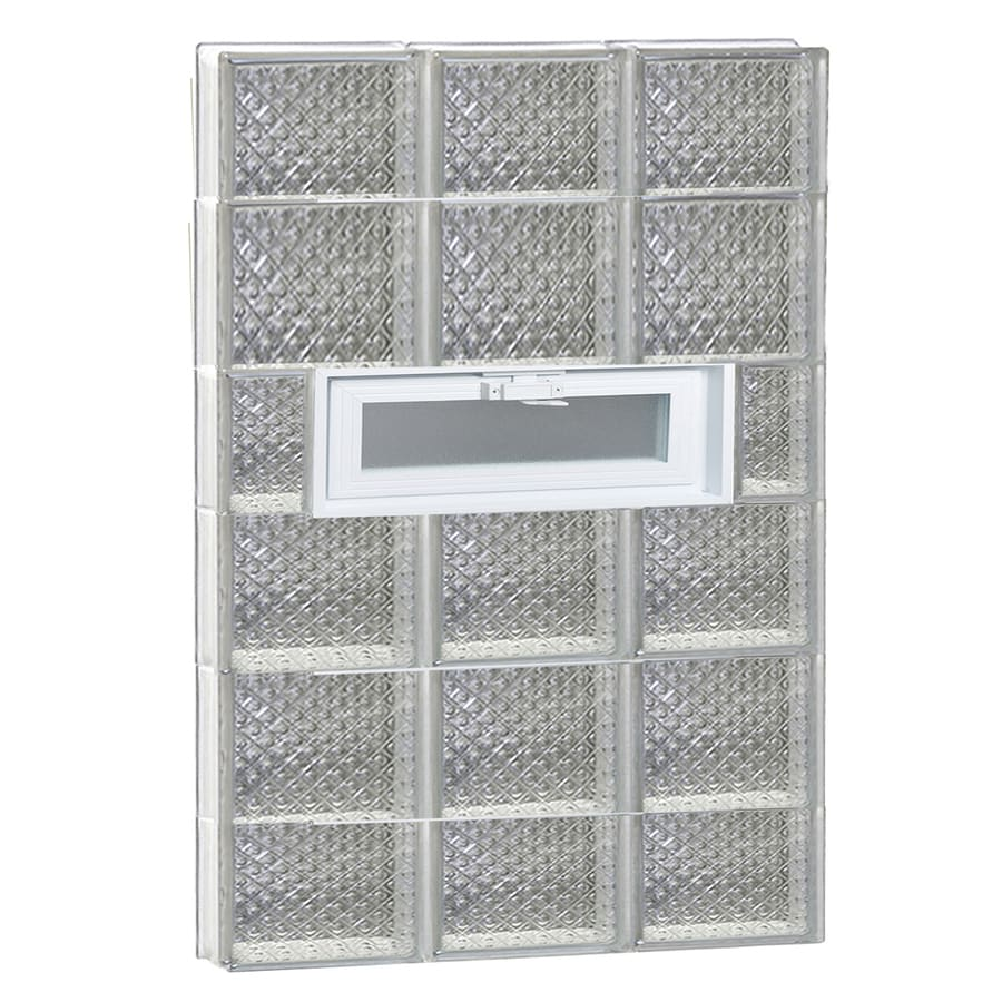 REDI2SET Diamond Pattern Frameless Replacement Glass Block Window (Rough Opening: 24-in x 44-in; Actual: 23.25-in x 42.5-in)
