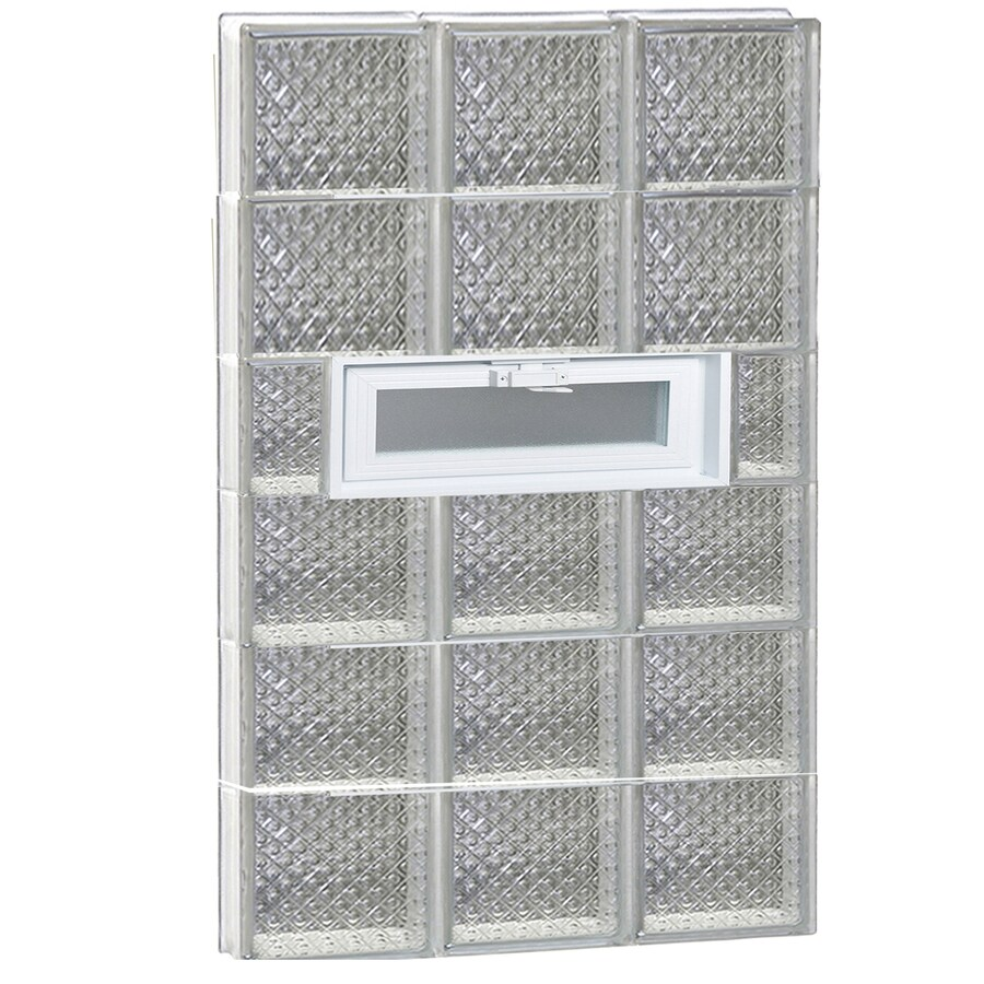 REDI2SET Diamond Pattern Frameless Replacement Glass Block Window (Rough Opening: 24-in x 48-in; Actual: 23.25-in x 46.5-in)
