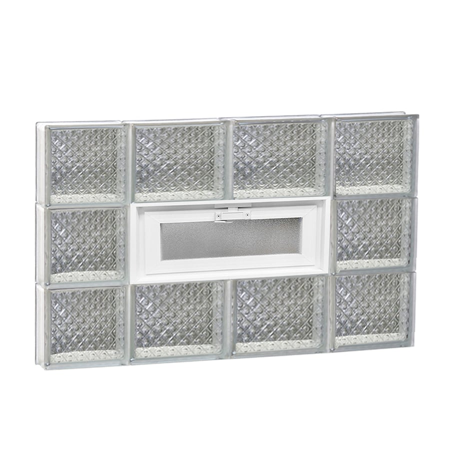 REDI2SET Diamond Pattern Frameless Replacement Glass Block Window (Rough Opening: 28-in x 18-in; Actual: 27-in x 17.25-in)