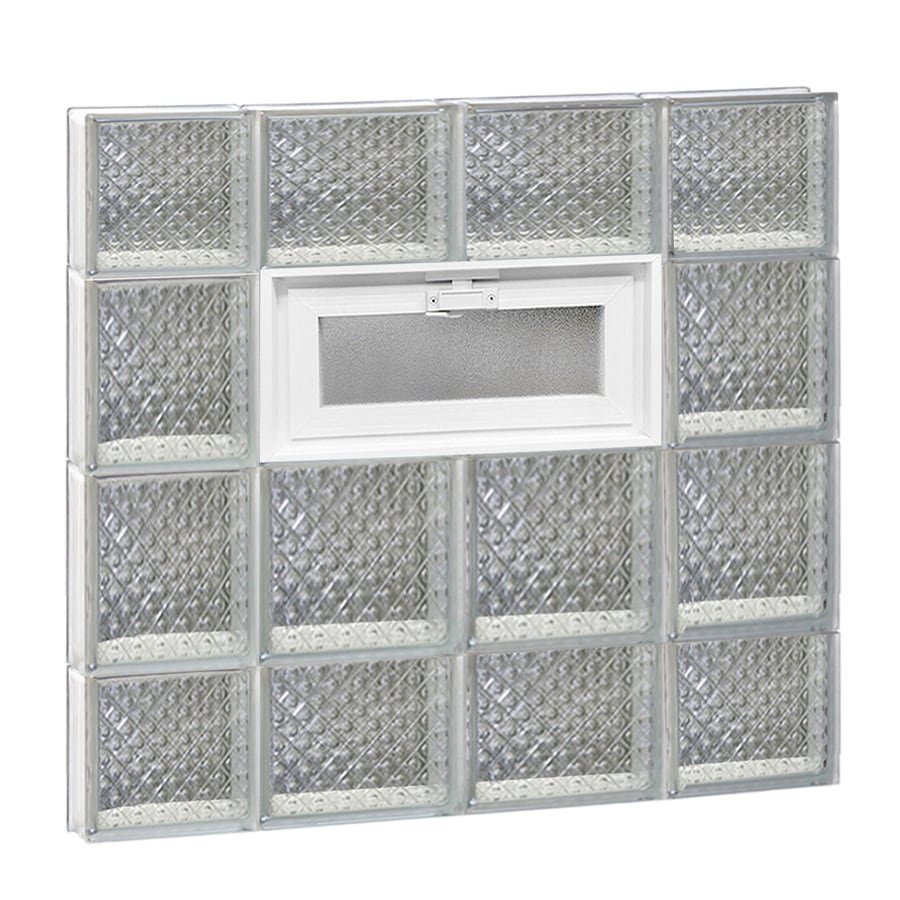 REDI2SET Diamond Pattern Frameless Replacement Glass Block Window (Rough Opening: 28-in x 28-in; Actual: 27-in x 27-in)
