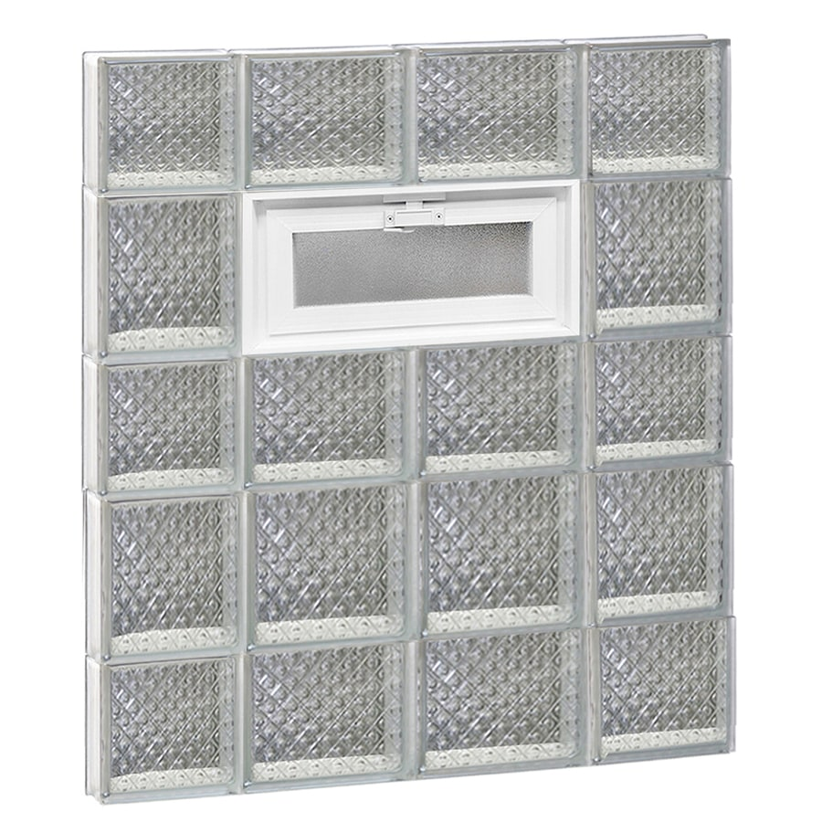 REDI2SET Diamond Pattern Frameless Replacement Glass Block Window (Rough Opening: 28-in x 34-in; Actual: 27-in x 32.75-in)