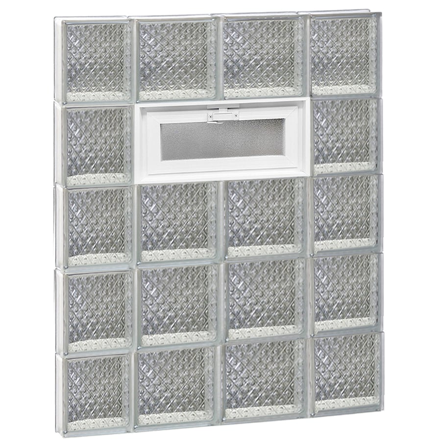 REDI2SET Diamond Pattern Frameless Replacement Glass Block Window (Rough Opening: 28-in x 40-in; Actual: 27-in x 38.75-in)