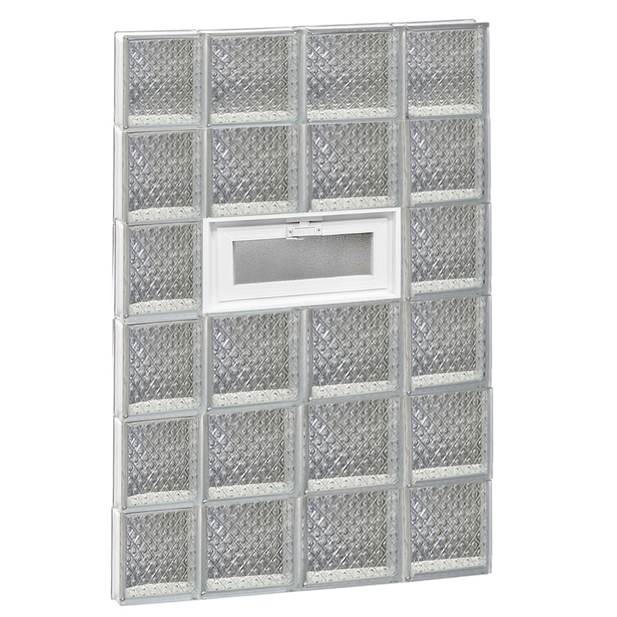 REDI2SET Diamond Pattern Frameless Replacement Glass Block Window (Rough Opening: 28-in x 48-in; Actual: 27-in x 46.5-in)