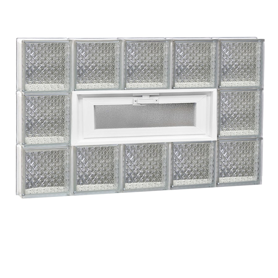 REDI2SET Diamond Pattern Frameless Replacement Glass Block Window (Rough Opening: 30-in x 18-in; Actual: 28.75-in x 17.25-in)