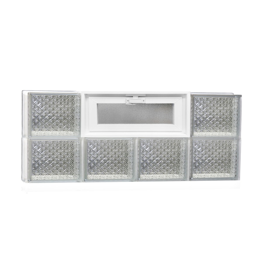 REDI2SET Diamond Pattern Frameless Replacement Glass Block Window (Rough Opening: 32-in x 12-in; Actual: 31-in x 11.5-in)
