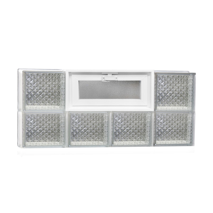 REDI2SET Diamond Pattern Frameless Replacement Glass Block Window (Rough Opening: 32-in x 14-in; Actual: 31-in x 13.5-in)