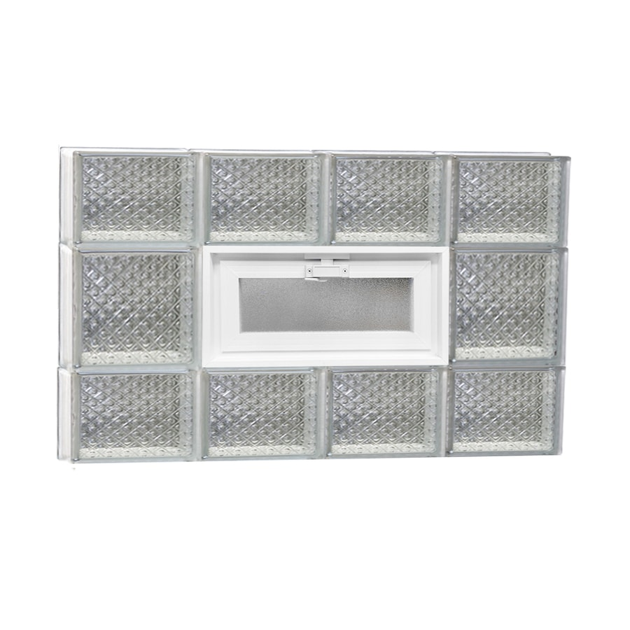 REDI2SET Diamond Pattern Frameless Replacement Glass Block Window (Rough Opening: 32-in x 20-in; Actual: 31-in x 19.25-in)