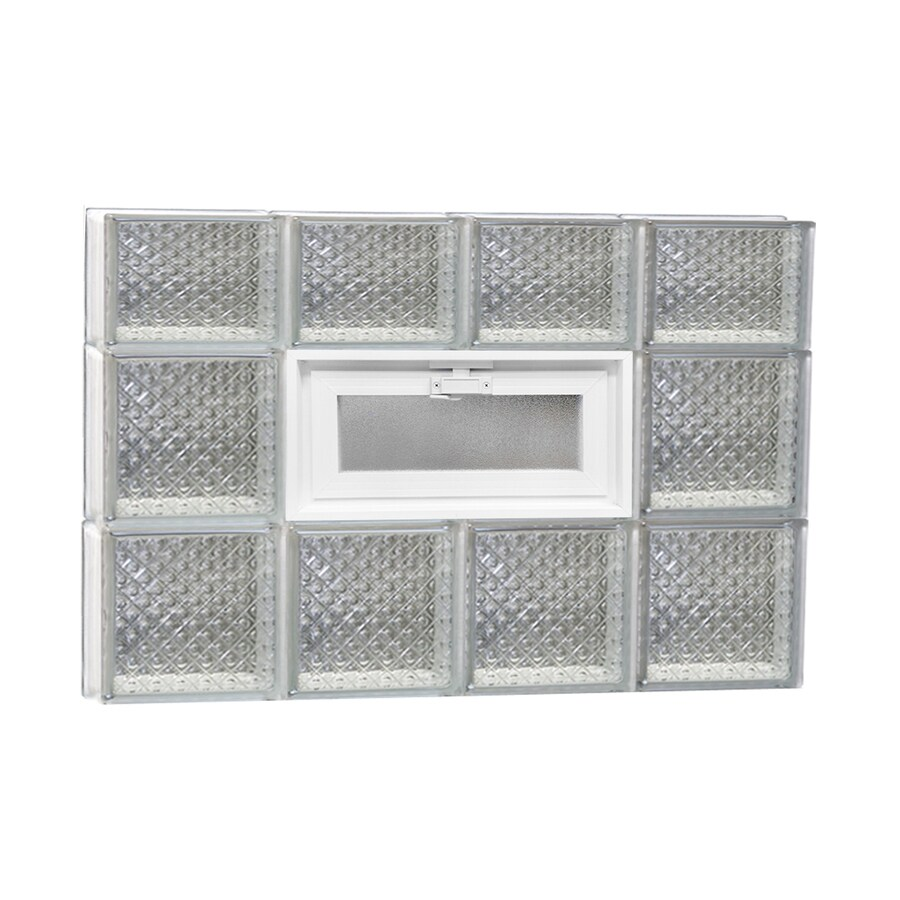 REDI2SET Diamond Pattern Frameless Replacement Glass Block Window (Rough Opening: 32-in x 22-in; Actual: 31-in x 21.25-in)