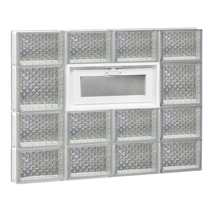 REDI2SET Diamond Glass Pattern Frameless Replacement Glass Block Window (Rough Opening: 32-in x 26-in; Actual: 31-in x 25-in)